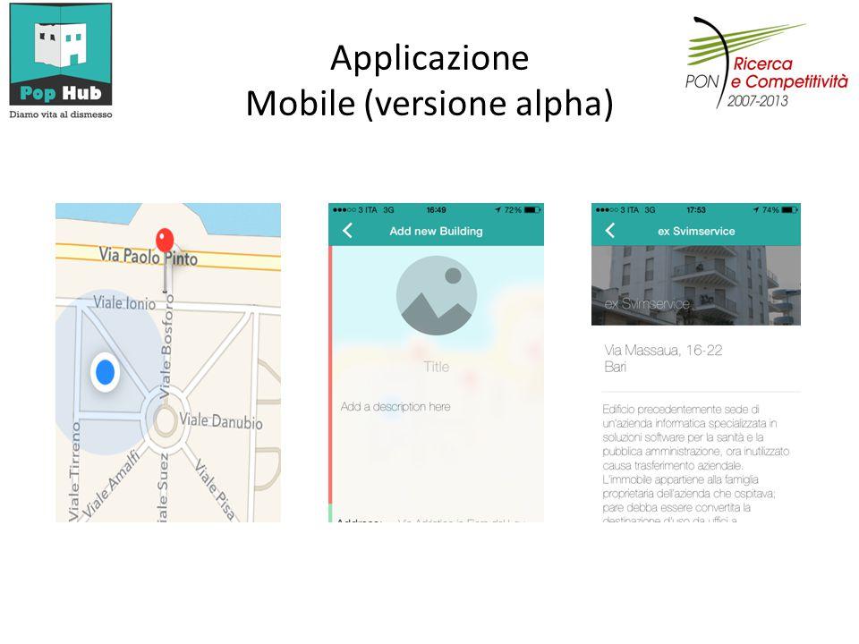 Applicazione Mobile (versione alpha)