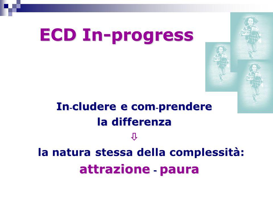 ECD In-progress ECD In-progress In - cludere e com - prendere la differenza  la natura stessa della complessità: attrazione - paura