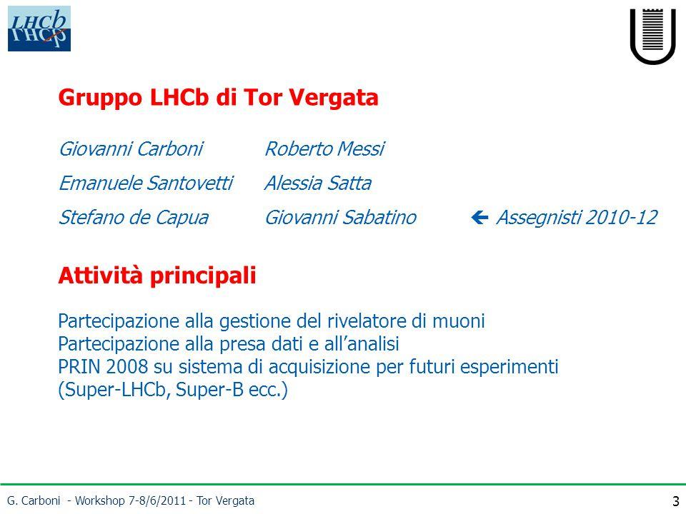 G. Carboni - Workshop 7-8/6/2011 - Tor Vergata 24