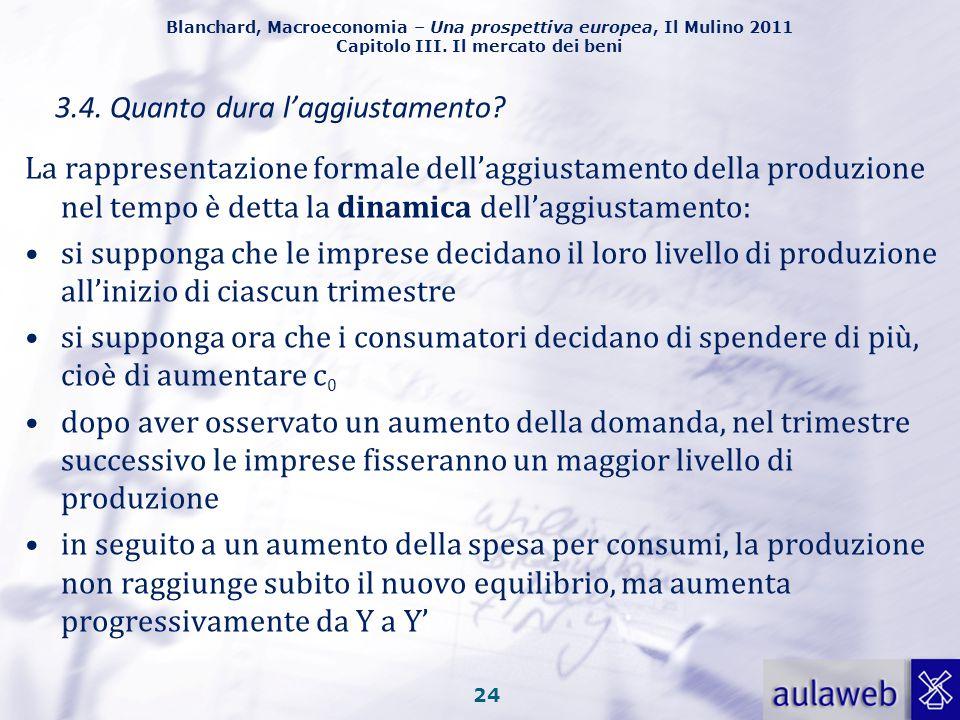 Blanchard, Macroeconomia – Una prospettiva europea, Il Mulino 2011 Capitolo III. Il mercato dei beni La produzione dipende dalla domanda, che a sua vo