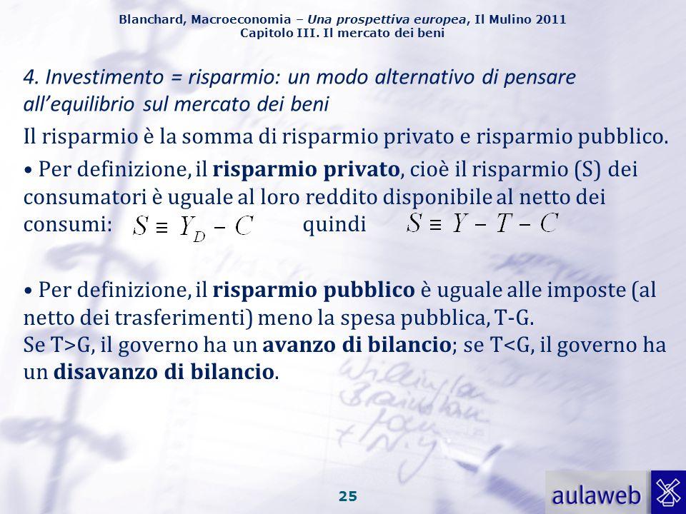 Blanchard, Macroeconomia – Una prospettiva europea, Il Mulino 2011 Capitolo III. Il mercato dei beni La rappresentazione formale dell'aggiustamento de