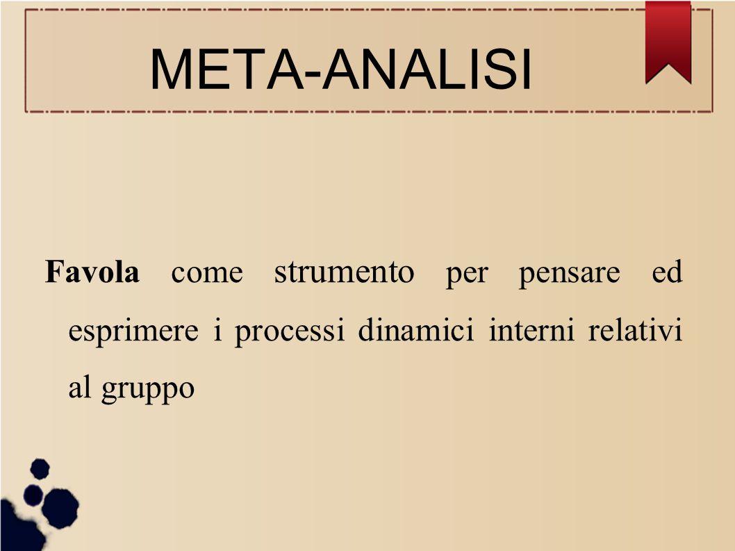 META-ANALISI Favola come strumento per pensare ed esprimere i processi dinamici interni relativi al gruppo