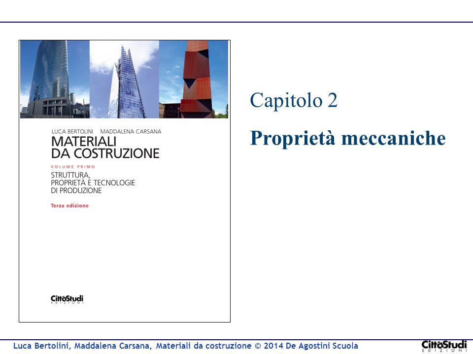 Luca Bertolini, Maddalena Carsana, Materiali da costruzione © 2014 De Agostini Scuola Capitolo 2 Proprietà meccaniche