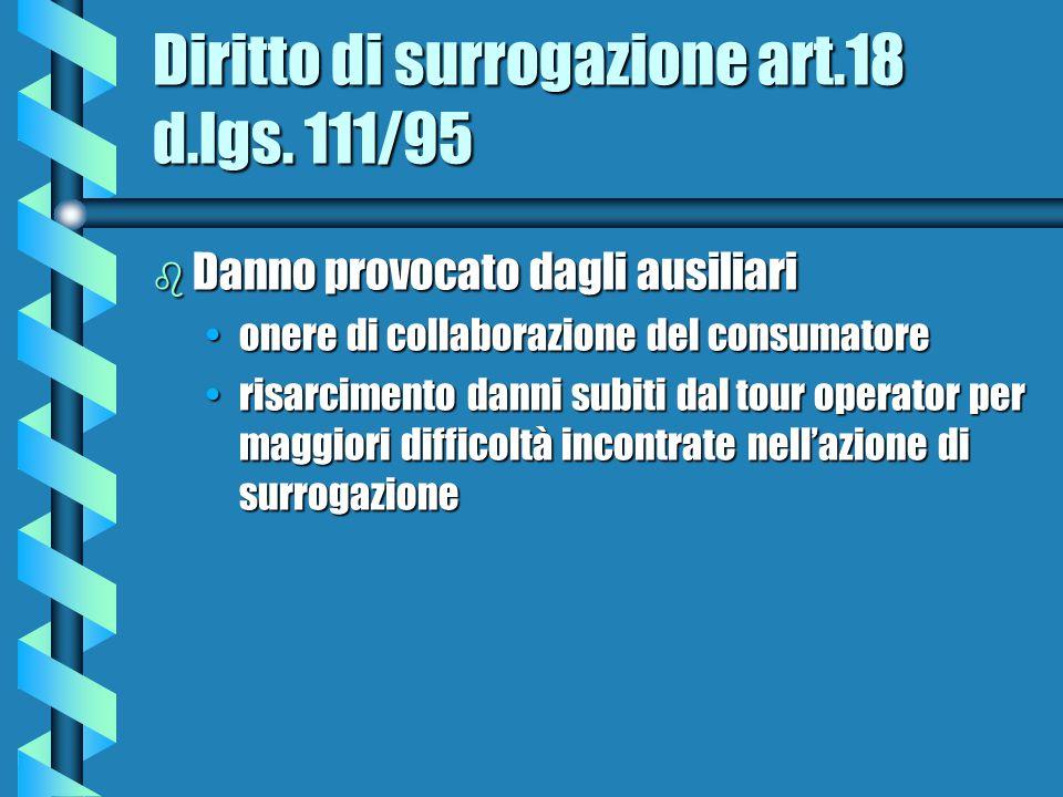 Diritto di surrogazione art.18 d.lgs.