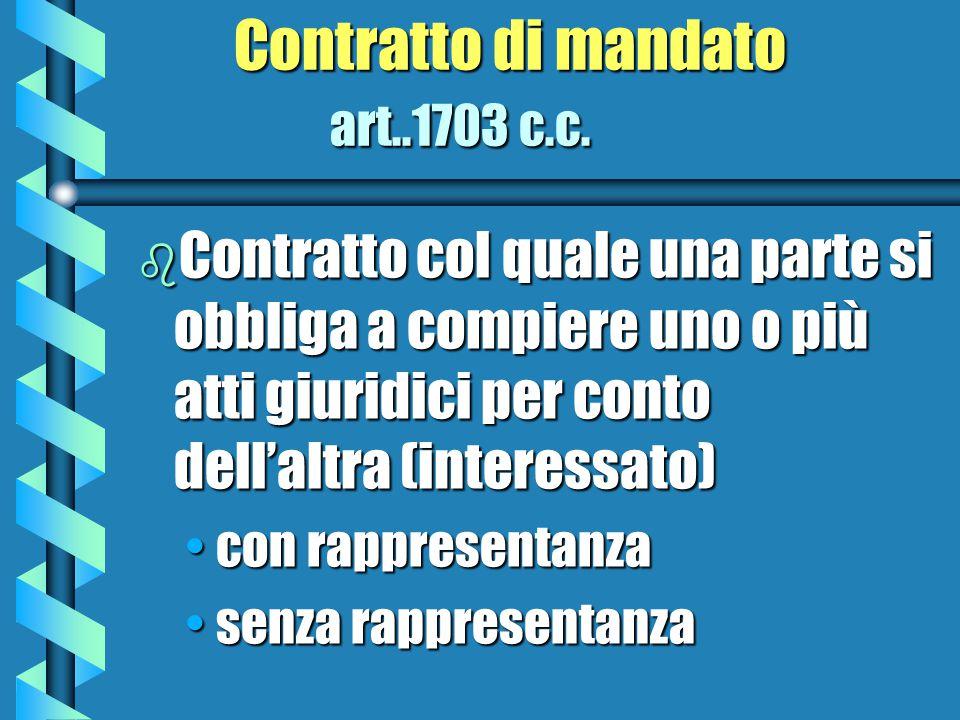 Contratto di mandato art..1703 c.c.