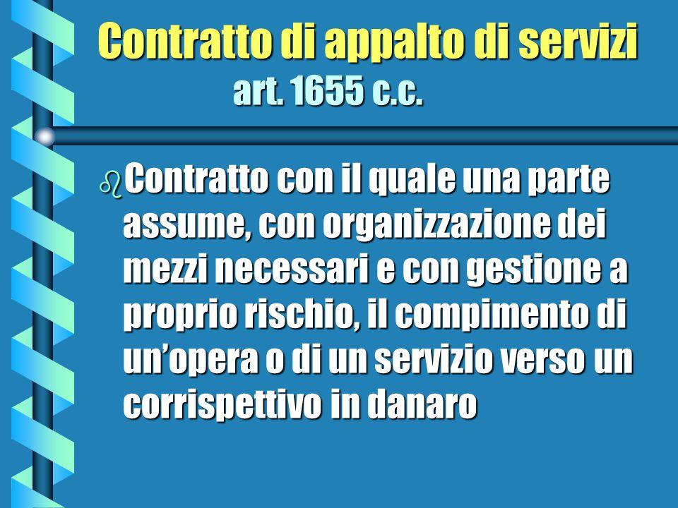 Contratto di appalto di servizi art. 1655 c.c.
