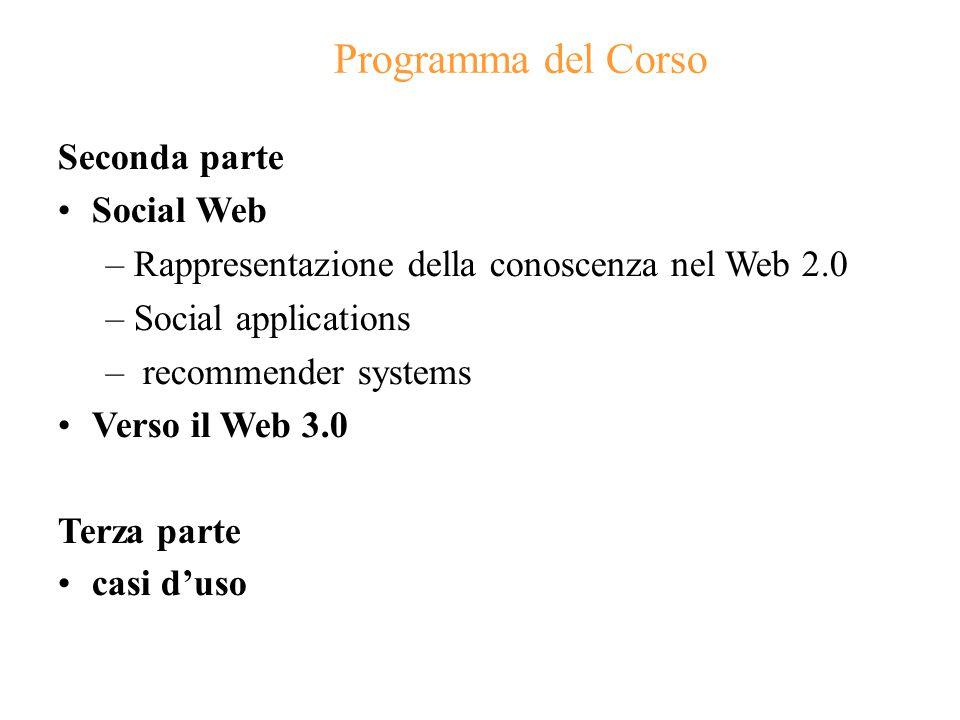 5 Programma del corso: prerequisiti Cosa dovete già conoscere…: HTML (anzi XHTML!) Rif: Informatica generale (laboratorio) Bib:  un qualunque manuale  molte informazioni di trovano in rete (es:www.html.it)  per XHTML Cosa è utile già conoscere almeno un po …: Concetti di base di reti di calcolatori Rif: Informatica applicata: reti Bib:  Kurose e Ross: Reti di Calcolatori e Internet III ed., Pearson  un qualunque manuale di reti