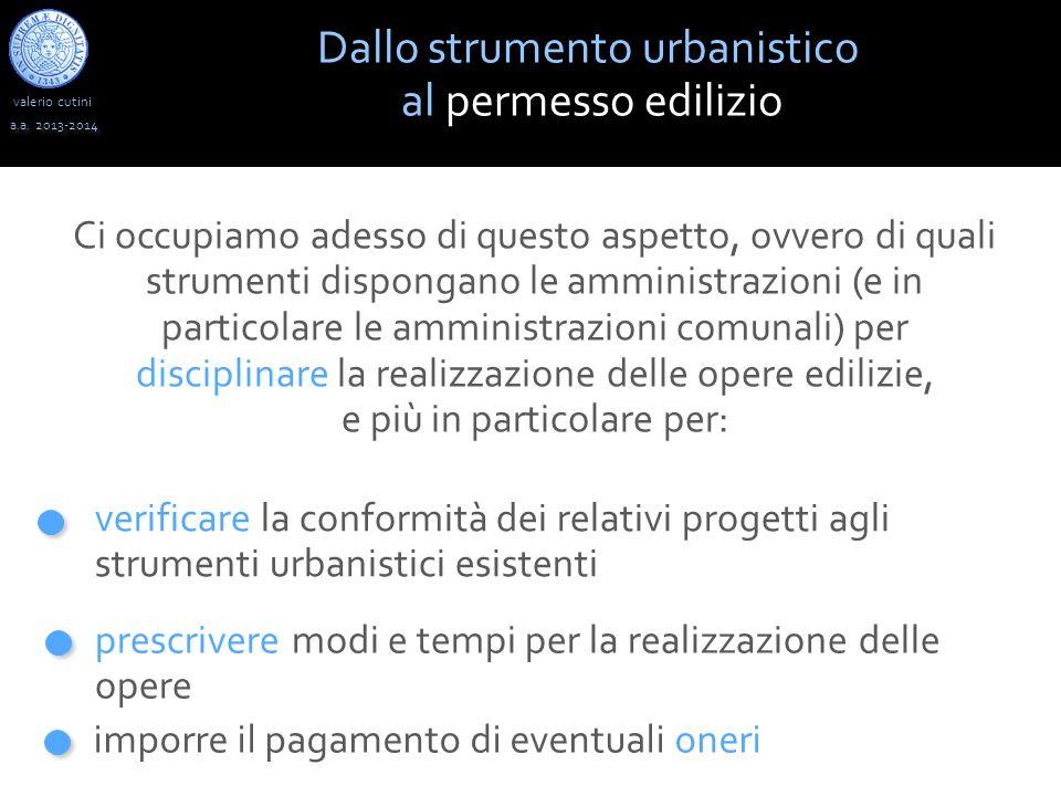 valerio cutini a.a.2013-2014 La concessione edilizia: procedura legge 10/1977 la domanda di C.E.