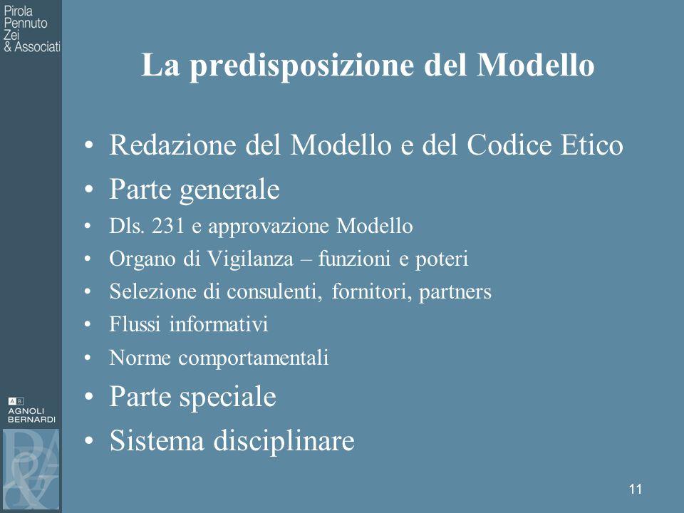 Redazione del Modello e del Codice Etico Parte generale Dls.