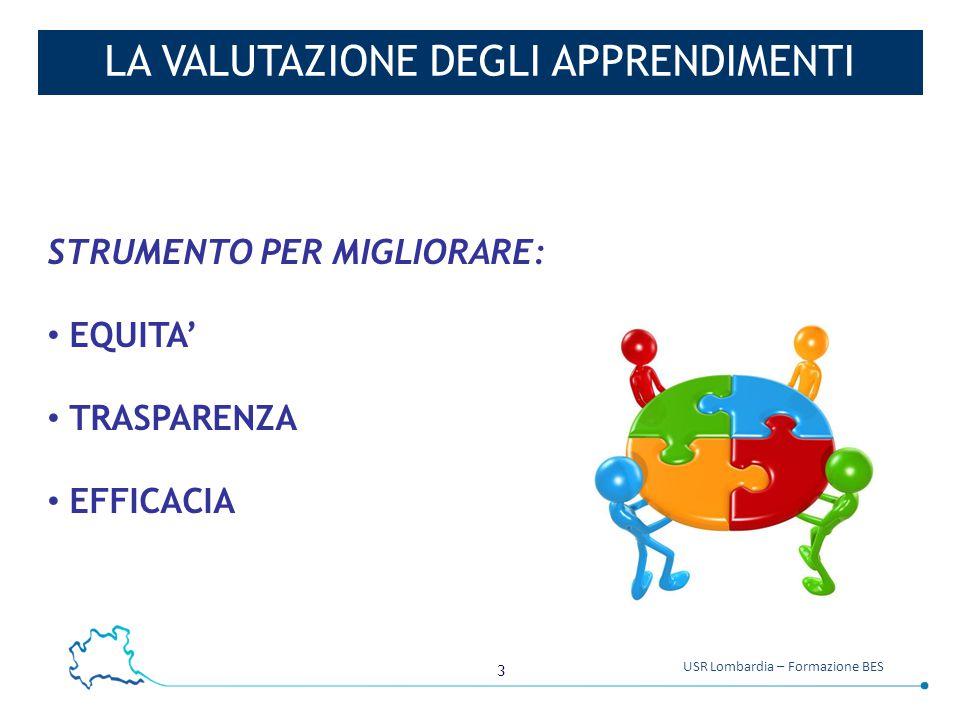 3 USR Lombardia – Formazione BES LA VALUTAZIONE DEGLI APPRENDIMENTI STRUMENTO PER MIGLIORARE: EQUITA' TRASPARENZA EFFICACIA