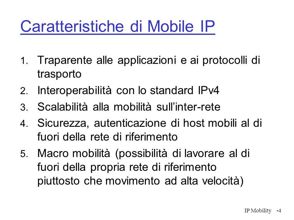 IP Mobility-15 Instradamento  L'instradamento verso l'host mobile deve necessariamente passare attraverso l'home agent  Particolarmente inefficiente se l'host destinazione è vicino all'host mobile (2 crossing problem)