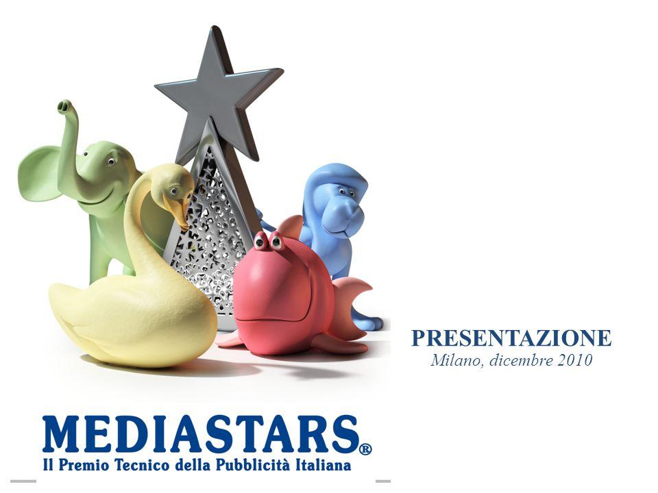 IL PREMIO MEDIASTARS Il premio Mediastars, giunto quest'anno alla XV edizione, si propone di valorizzare le migliori campagne pubblicitarie, la professionalità e il talento di quanti operano nel campo della comunicazione pubblicitaria a livello nazionale.