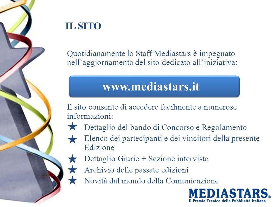 IL SITO Quotidianamente lo Staff Mediastars è impegnato nell'aggiornamento del sito dedicato all'iniziativa: Il sito consente di accedere facilmente a