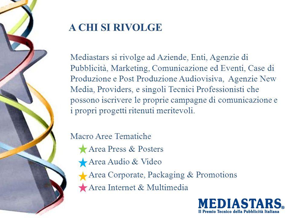A CHI SI RIVOLGE Mediastars si rivolge ad Aziende, Enti, Agenzie di Pubblicità, Marketing, Comunicazione ed Eventi, Case di Produzione e Post Produzio