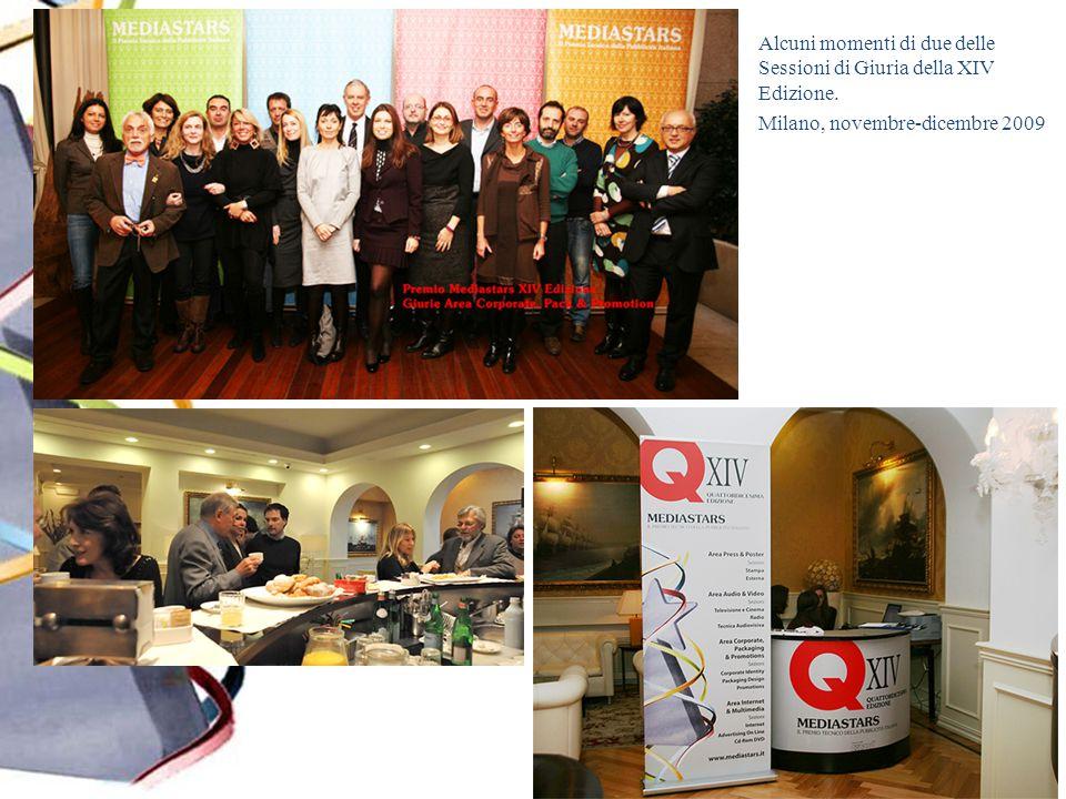 Alcuni momenti di due delle Sessioni di Giuria della XIV Edizione. Milano, novembre-dicembre 2009