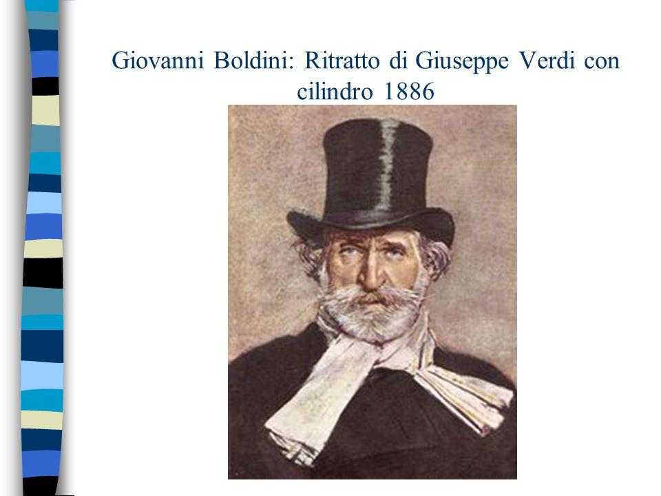 Giovanni Boldini: Ritratto di Giuseppe Verdi con cilindro 1886