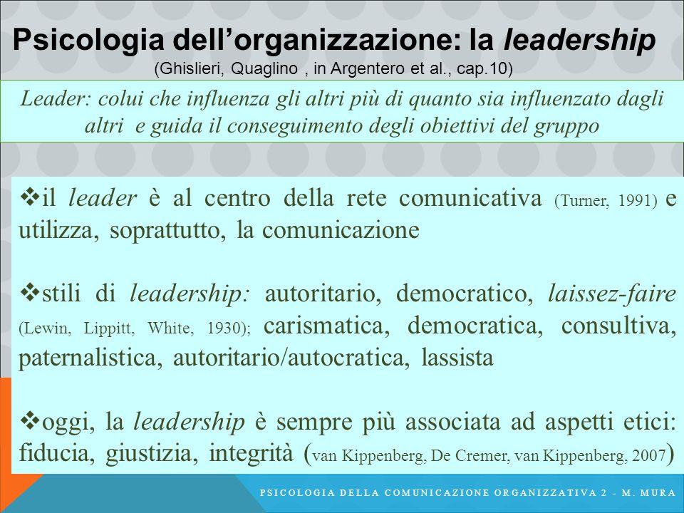 PSICOLOGIA DELLA COMUNICAZIONE ORGANIZZATIVA 2 - M.