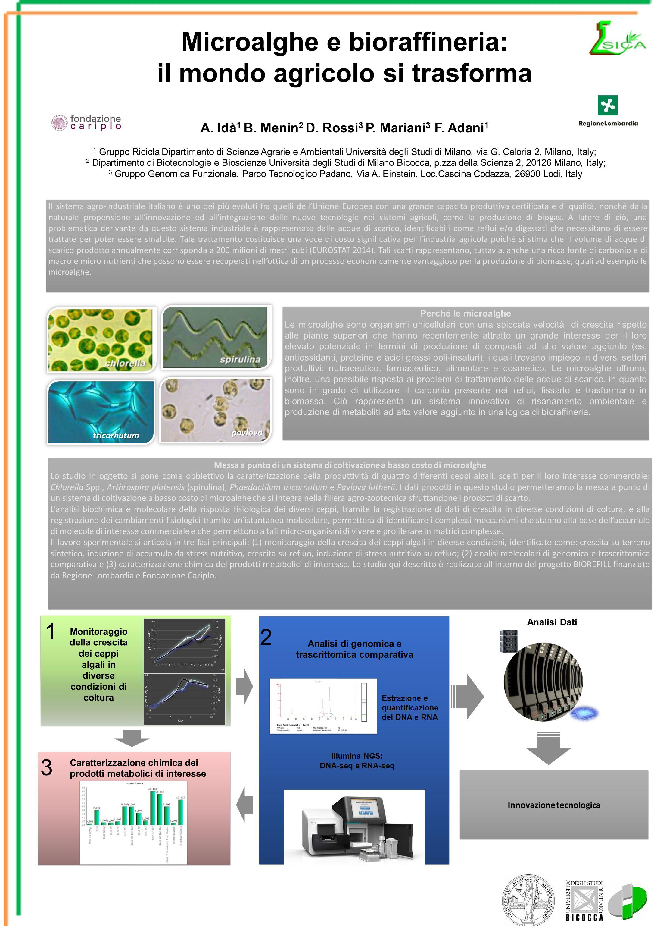 Messa a punto di un sistema di coltivazione a basso costo di microalghe Lo studio in oggetto si pone come obbiettivo la caratterizzazione della produt