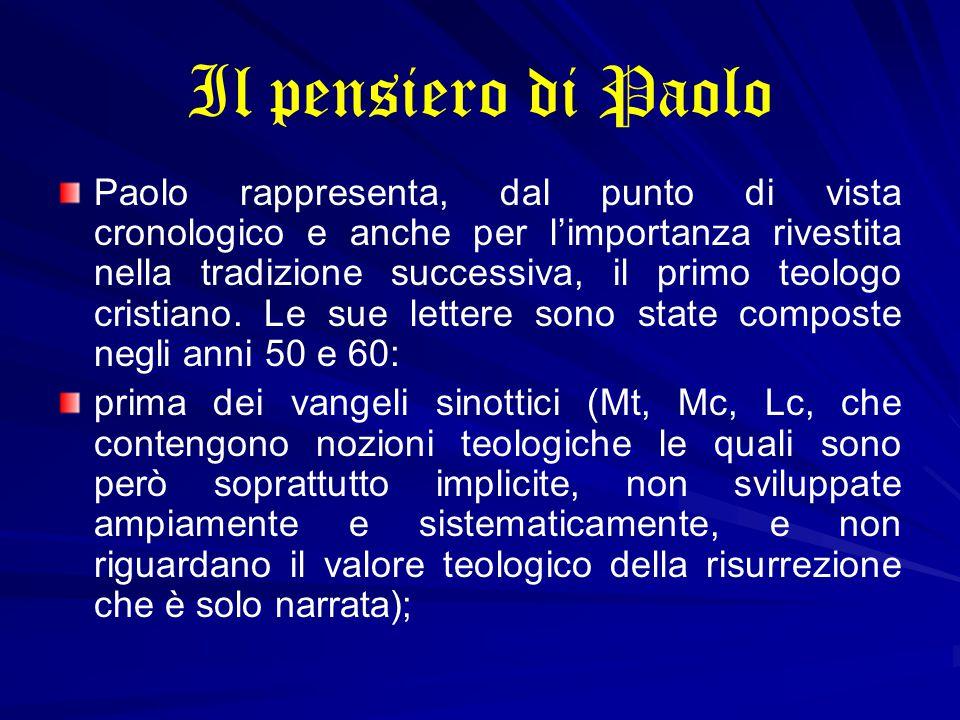 Il pensiero di Paolo Paolo rappresenta, dal punto di vista cronologico e anche per l'importanza rivestita nella tradizione successiva, il primo teolog