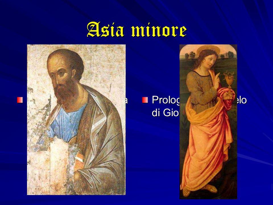 Asia minore Inno cristologico della Lettera ai Colossesi Prologo del Vangelo di Giovanni