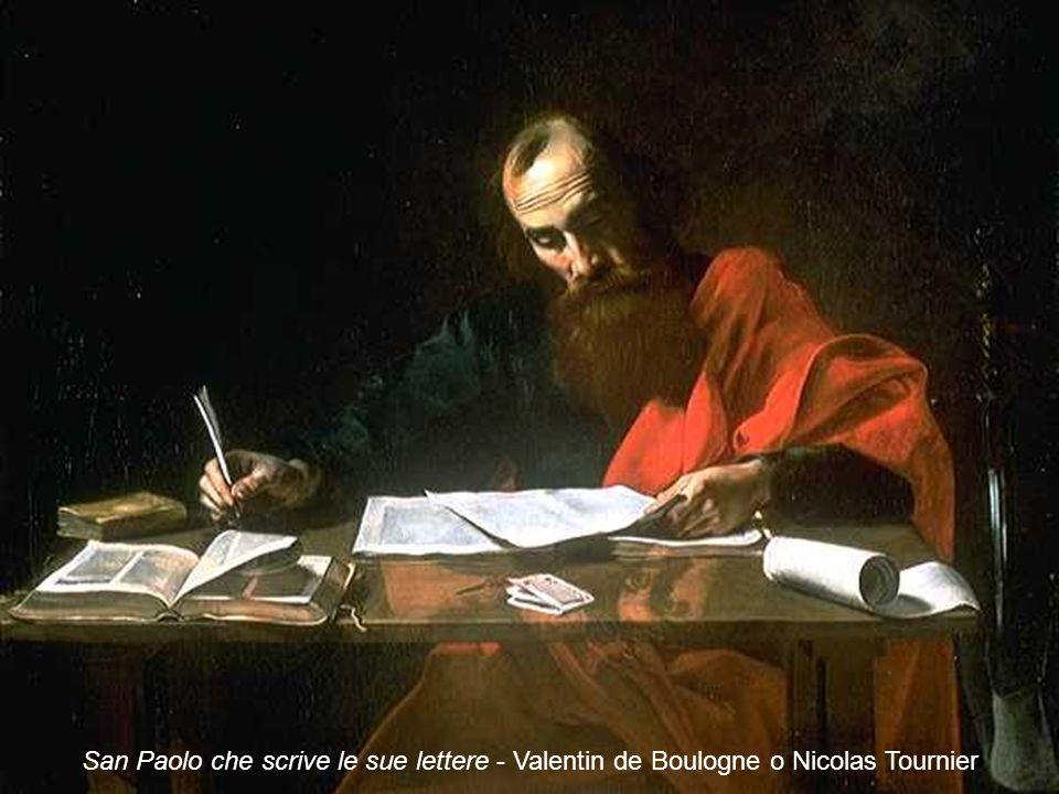 San Paolo che scrive le sue lettere - Valentin de Boulogne o Nicolas Tournier