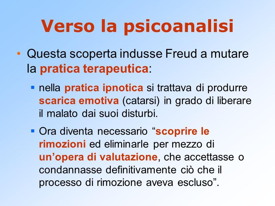 La scoperta dell'inconscio Freud abbandona l'identificazione tradizionale di cosciente e psichico .