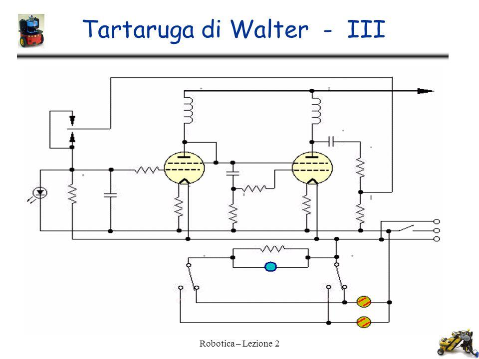 Tartaruga di Walter - III Robotica – Lezione 2