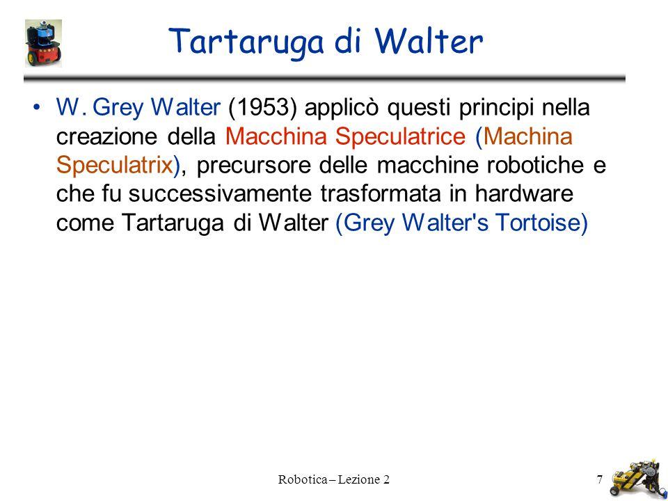 Robotica – Lezione 27 Tartaruga di Walter W.