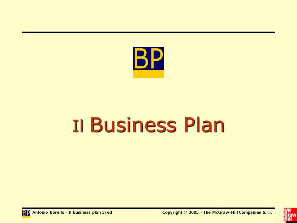 Antonio Borello - Il business plan 3/edCopyright © 2005 - The McGraw-Hill Companies S.r.l.