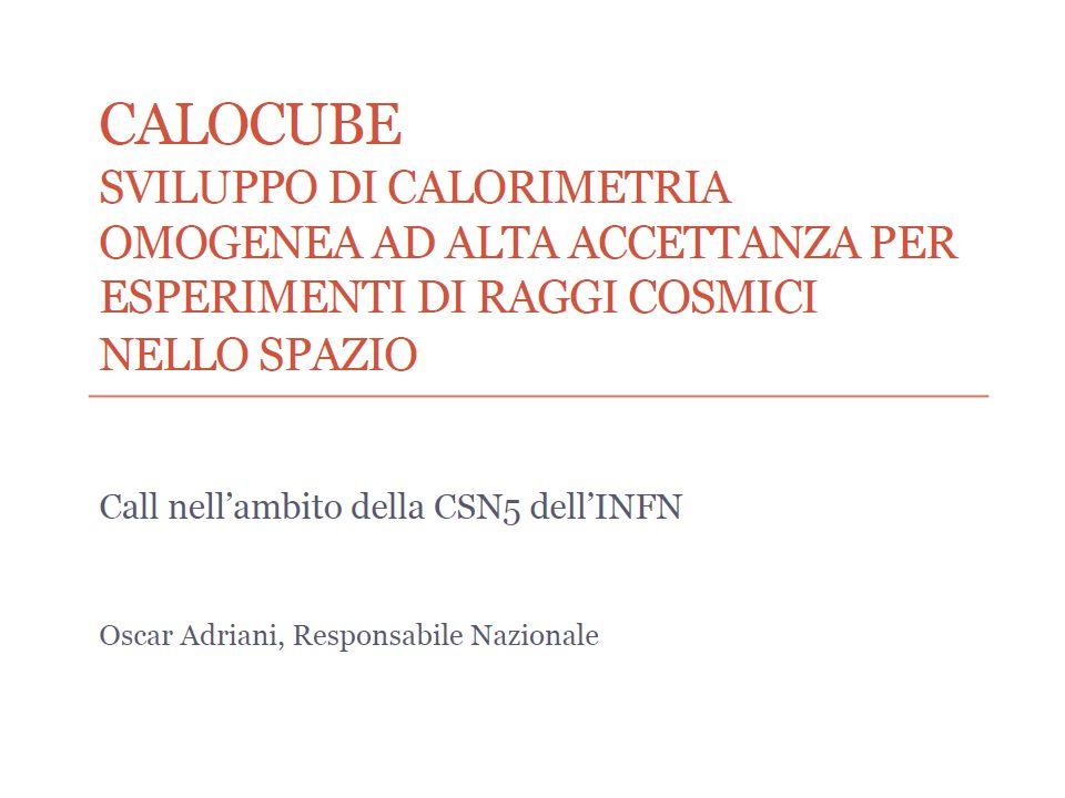 Dati preliminari ottenuti presso Milano-Bicocca