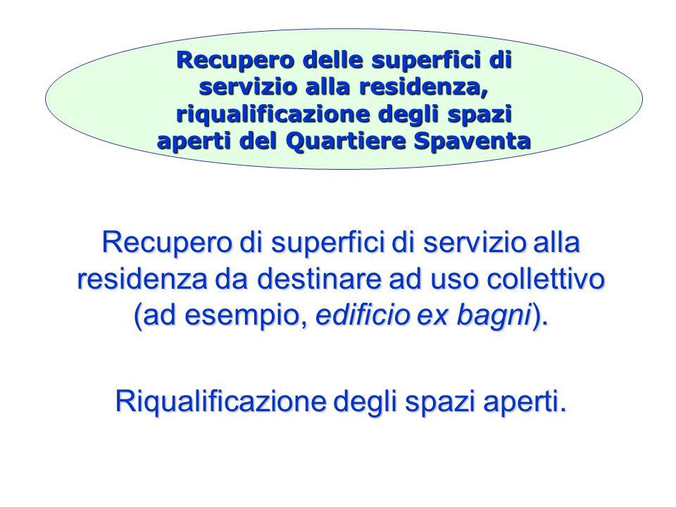 Recupero di superfici di servizio alla residenza da destinare ad uso collettivo (ad esempio, edificio ex bagni).