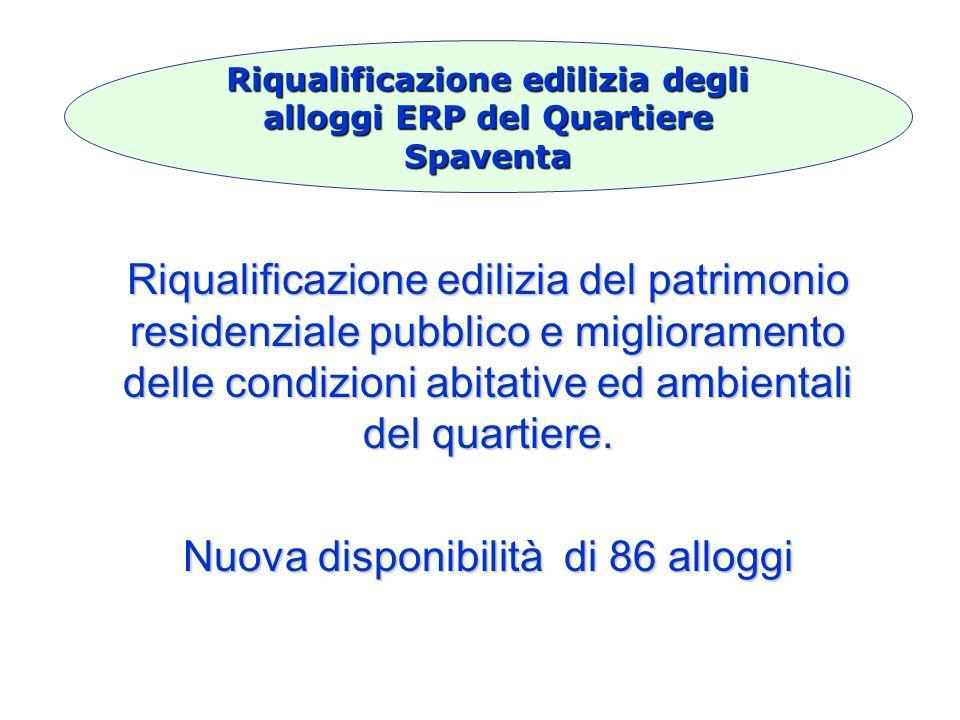 Riqualificazione edilizia del patrimonio residenziale pubblico e miglioramento delle condizioni abitative ed ambientali del quartiere.