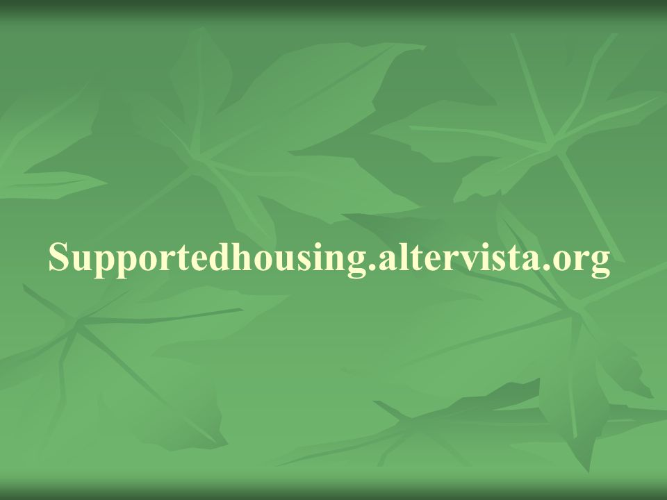 Supportedhousing.altervista.org