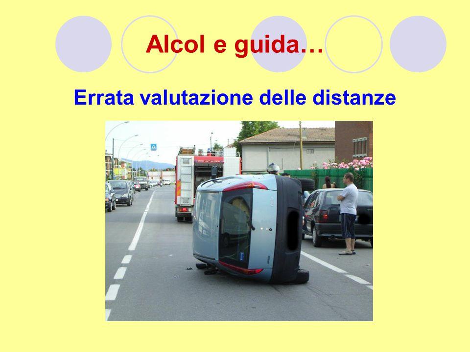 Alcol e guida… Errata valutazione delle distanze