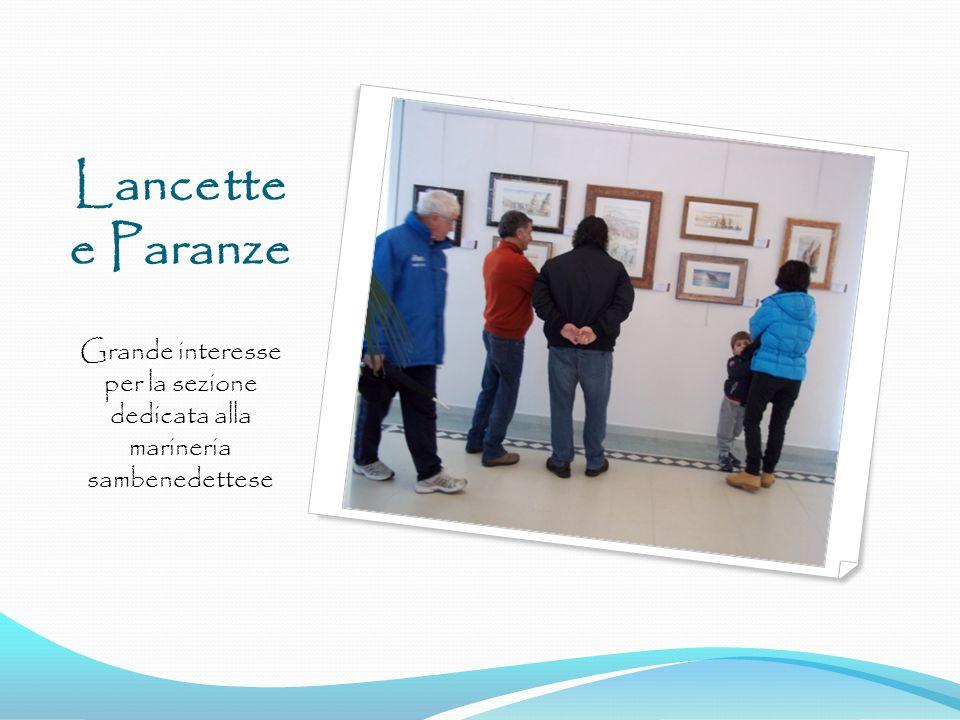 Lancette e Paranze Grande interesse per la sezione dedicata alla marineria sambenedettese