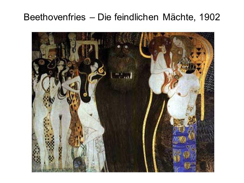 Beethovenfries – Die feindlichen Mächte, 1902