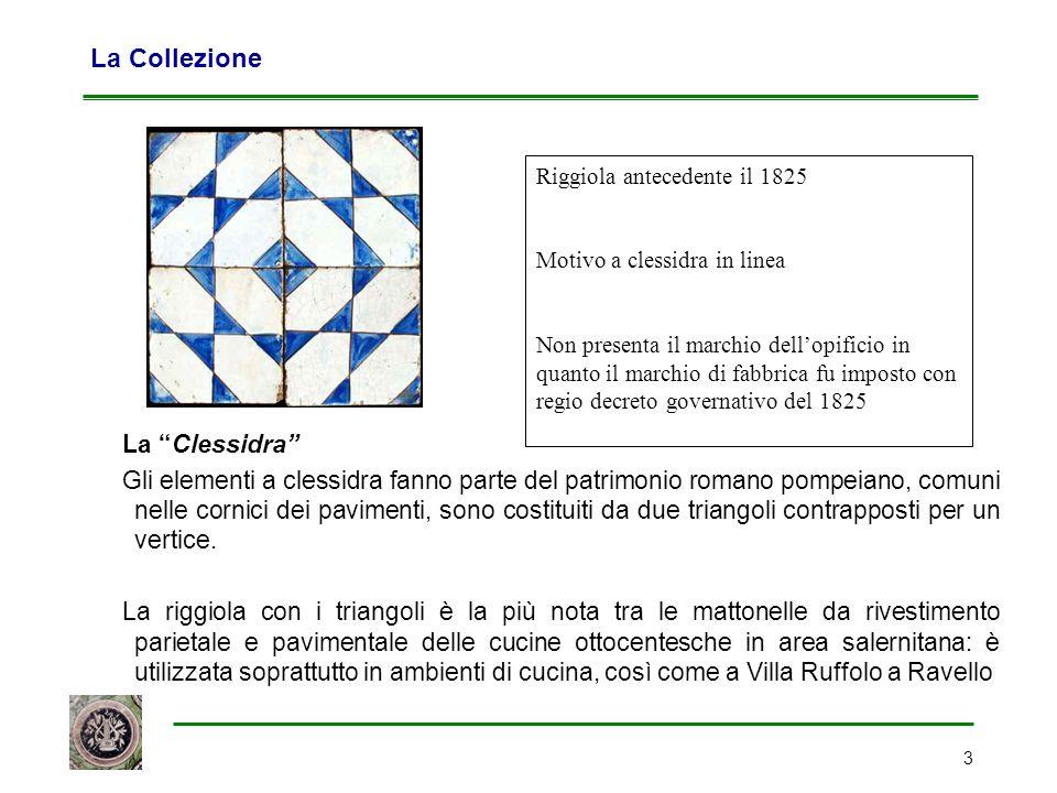 """3 La Collezione La """"Clessidra"""" Gli elementi a clessidra fanno parte del patrimonio romano pompeiano, comuni nelle cornici dei pavimenti, sono costitui"""