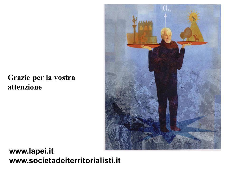 Grazie per la vostra attenzione www.lapei.it www.societadeiterritorialisti.it
