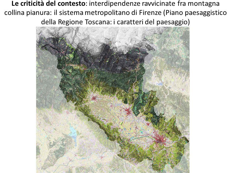 Le criticità del contesto: interdipendenze ravvicinate fra montagna collina pianura: il sistema metropolitano di Firenze (Piano paesaggistico della Re