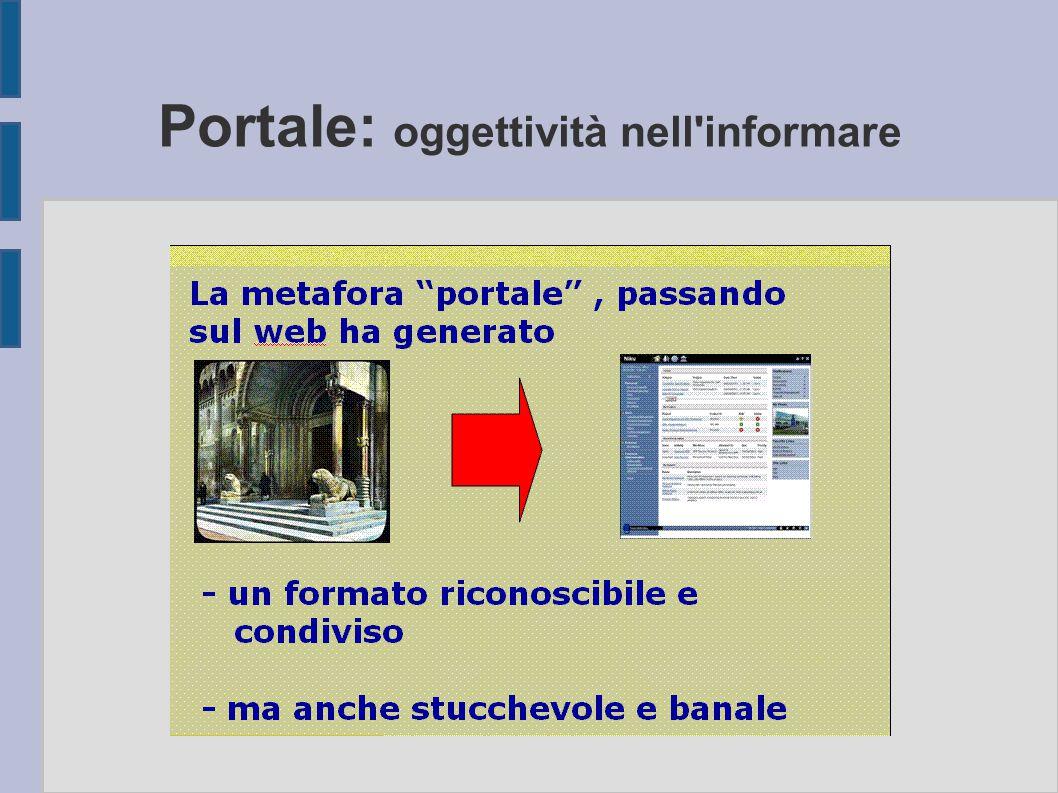 Portale: oggettività nell'informare