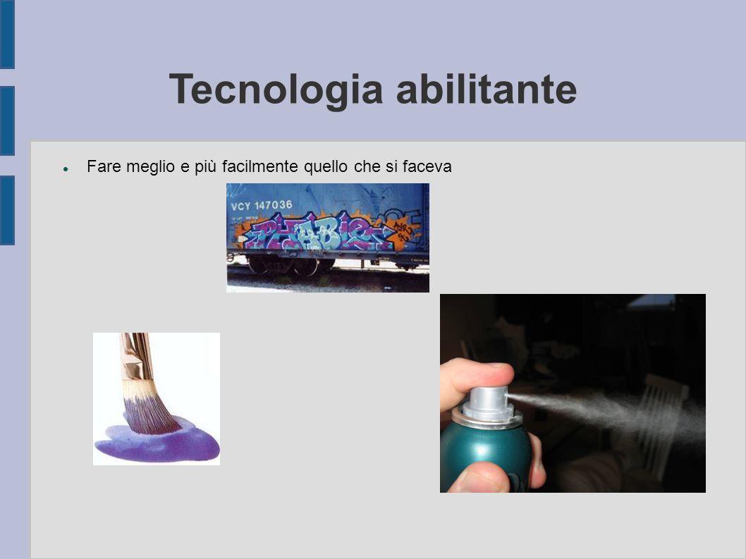 Tecnologia abilitante Fare meglio e più facilmente quello che si faceva