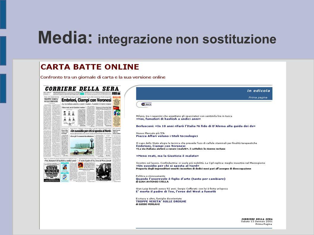 Media: integrazione non sostituzione