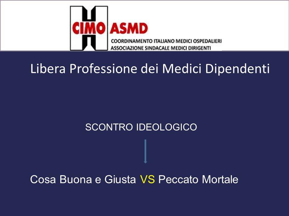 Libera Professione dei Medici Dipendenti Cosa Buona e Giusta VS Peccato Mortale SCONTRO IDEOLOGICO