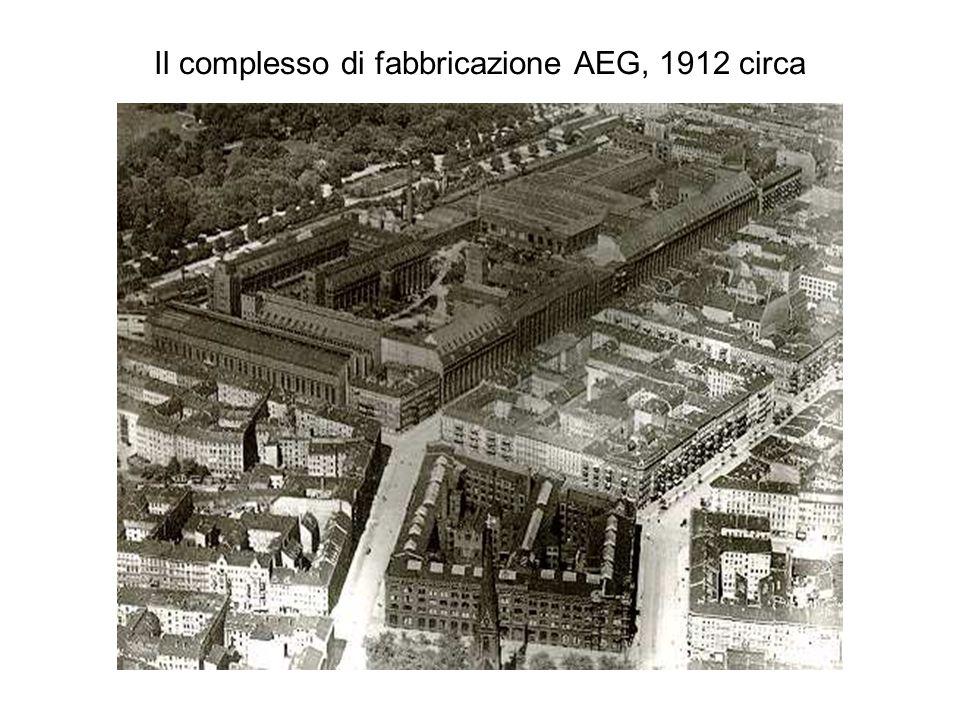 Il complesso di fabbricazione AEG, 1912 circa