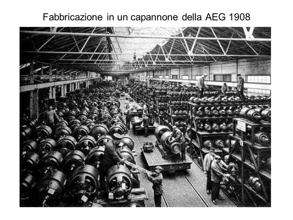 Fabbricazione in un capannone della AEG 1908