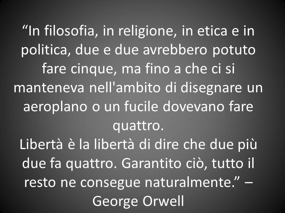 """""""In filosofia, in religione, in etica e in politica, due e due avrebbero potuto fare cinque, ma fino a che ci si manteneva nell'ambito di disegnare un"""