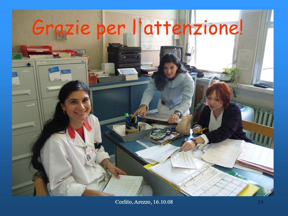 Corlito, Arezzo, 16.10.0834 Grazie per l ' attenzione!