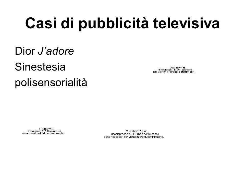 Casi di pubblicità televisiva Dior J'adore Sinestesia polisensorialità
