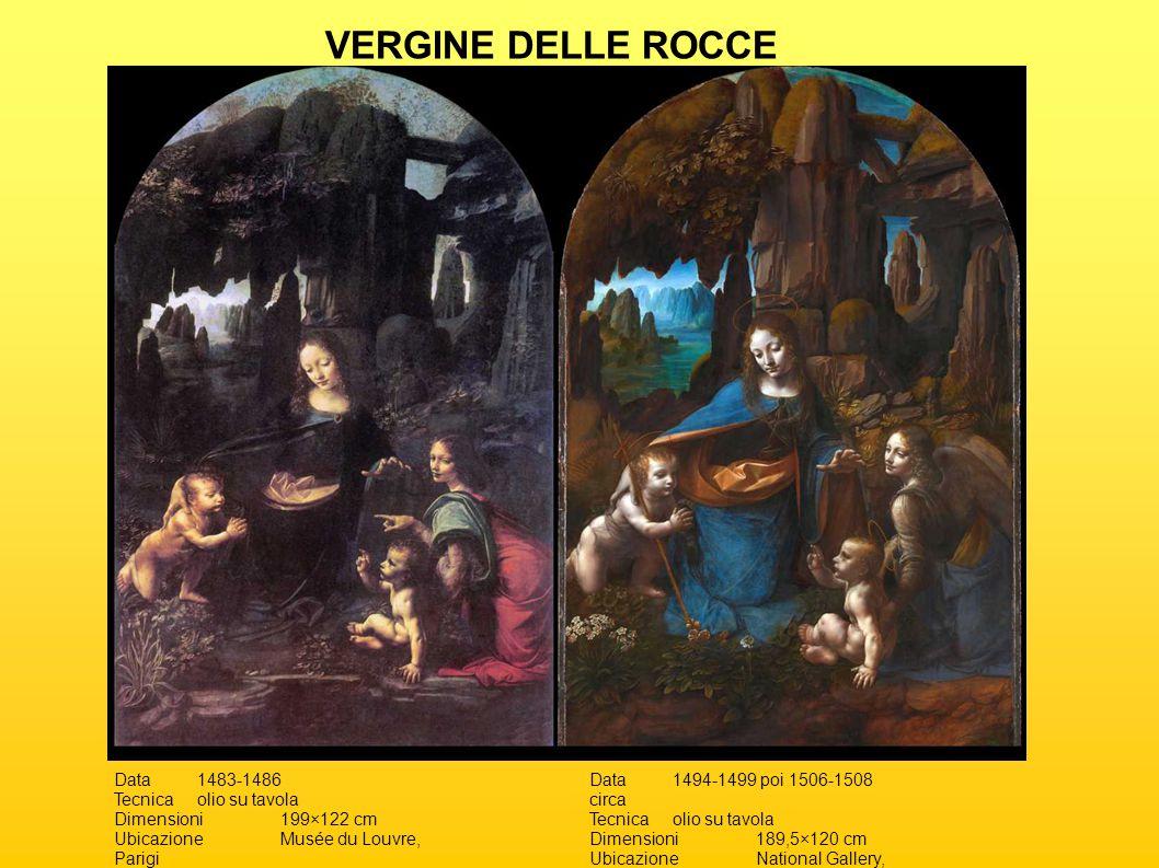 Data1483-1486 Tecnicaolio su tavola Dimensioni199×122 cm UbicazioneMusée du Louvre, Parigi Data1494-1499 poi 1506-1508 circa Tecnicaolio su tavola Dim
