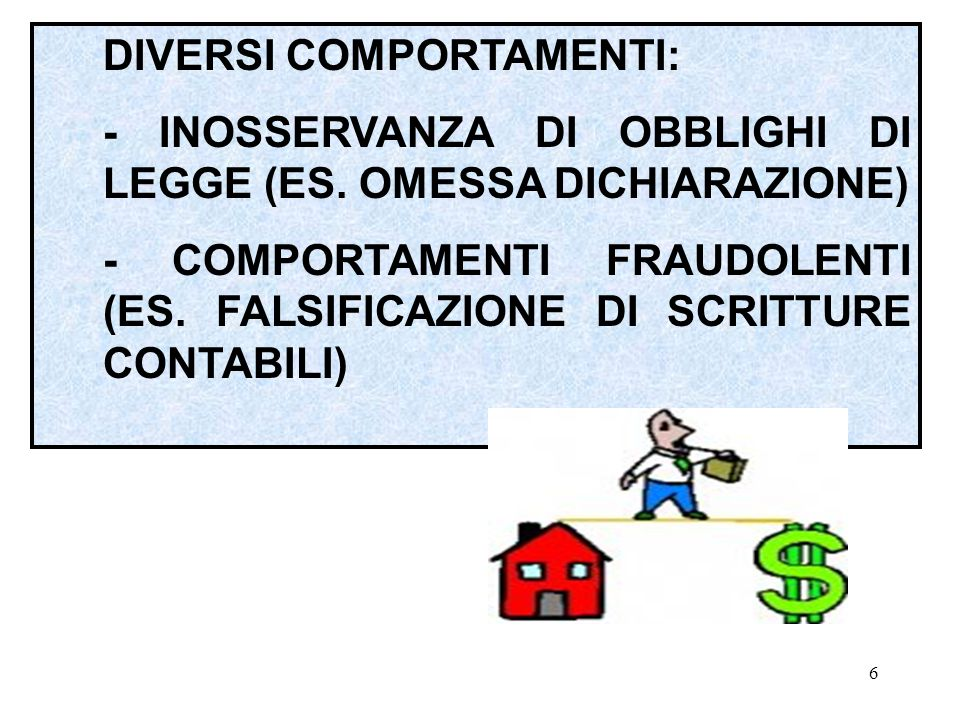 5 IL CONTRIBUENTE RIESCE A SOTTRARSI AL PAGAMENTO DEL TRIBUTO, OCCULTANDO, IN TUTTO O IN PARTE, L'ESISTENZA DELLA MATERIA IMPONIBILE.